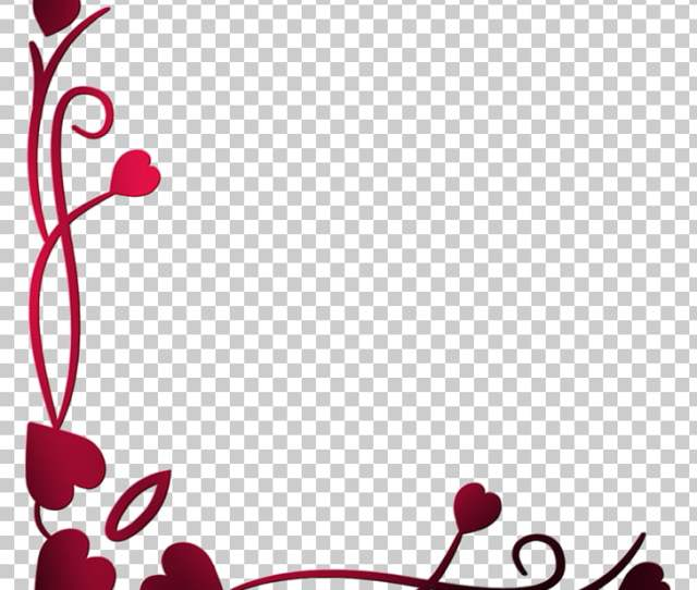 Love Blogger Valentines Day Heart Border Png Clipart