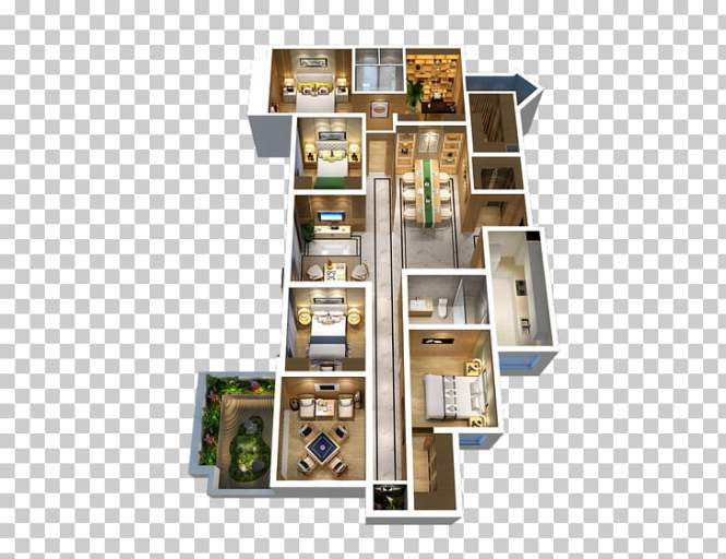Four Room Apartment Three Set Two Health Png Clipart