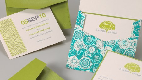 Stylish Papery :: Elizabeth & Phillip Wedding Invitation