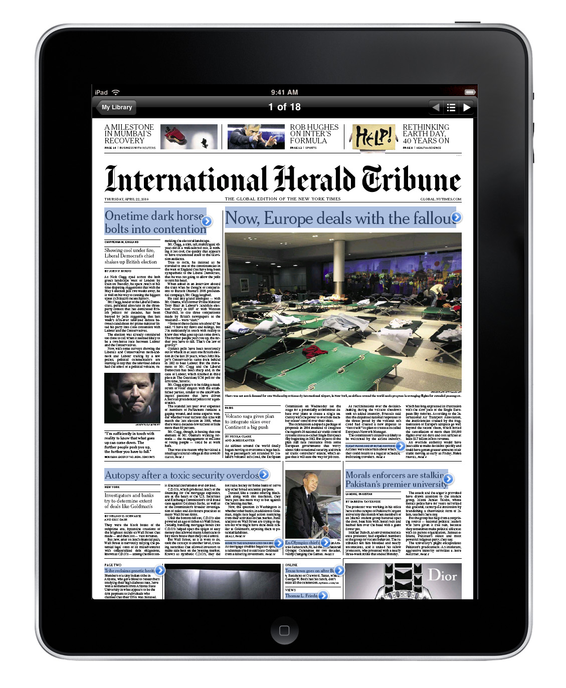 Some consider the iPad the modern newspaper
