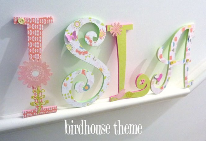 handpainted and decorated wooden letters nursery decor themes