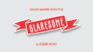 Glaresome font Situjuh Nazara