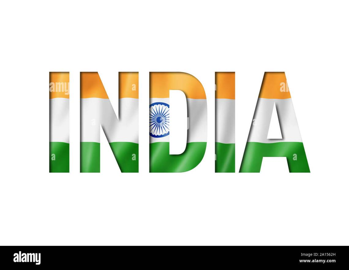 Download indian flag text font. india symbol background Stock Photo ...