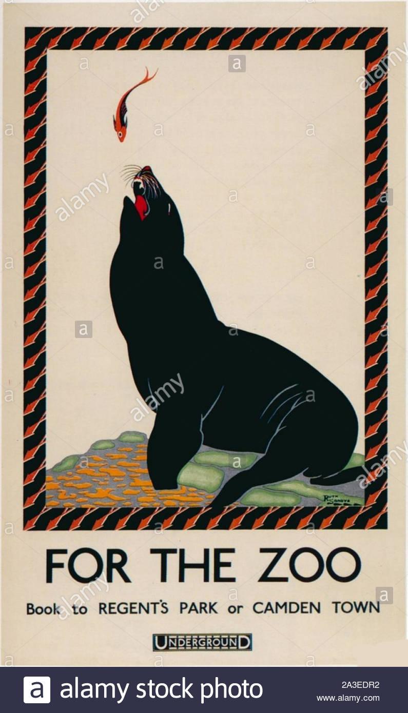 https www alamy com vintage london underground poster zoo image329159126 html