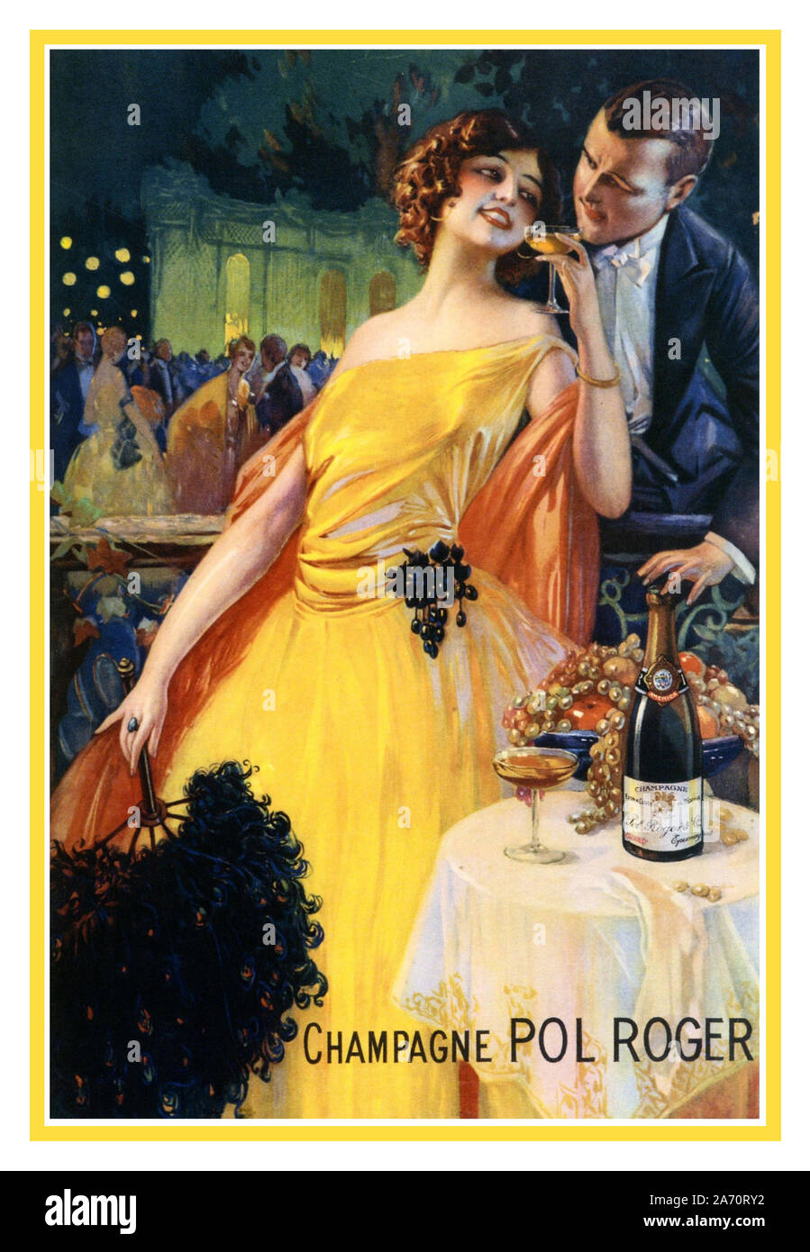 https www alamy com vintage champagne pol roger french advertising poster 1920 by gaspar camps illustrating a luxury lifestyle france image331318374 html
