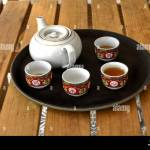 Chinese Tea Set At A Chinese Restaurant Stock Photo Alamy