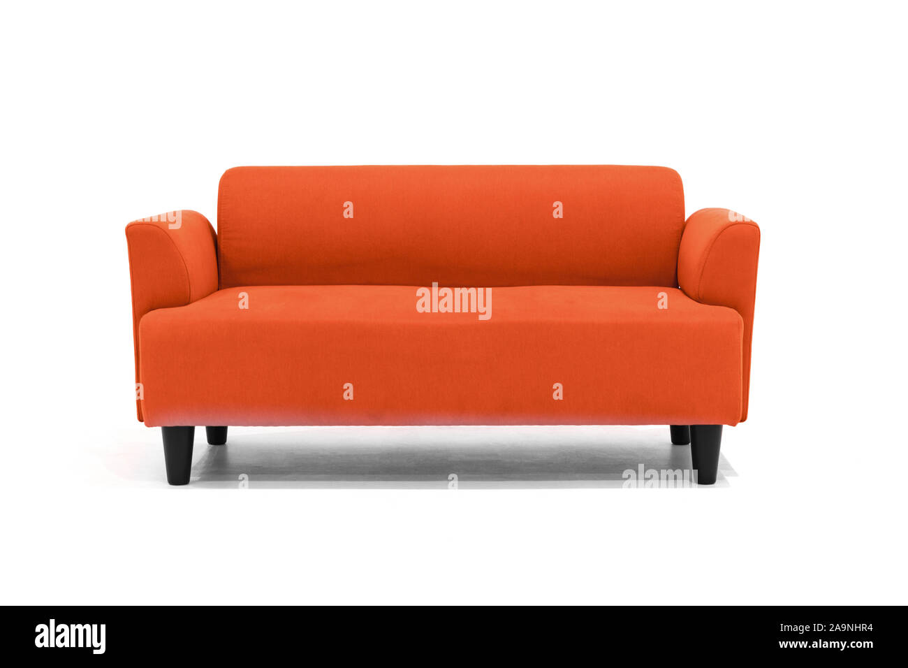 Red Scandinavian Style Contemporary Sofa On White Background