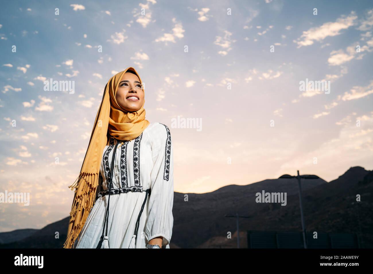 Executive director of women for afghan women. Young Muslim Woman Wearing Yellow Hijab Stock Photo Alamy