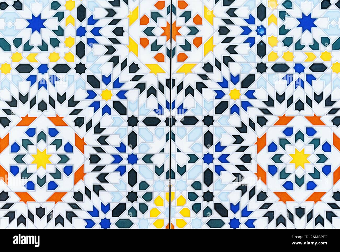 https www alamy com ceramic tiles with bright patterns porcelain tile with a multi colored pattern image339549264 html