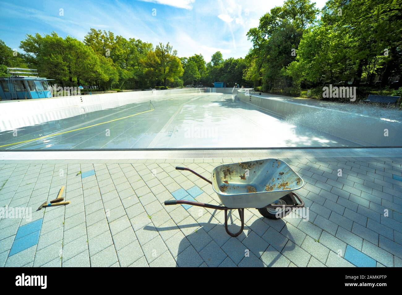 If you're a billiards fanatic looking for a challenge, look no further! Empty Wheelbarrow In Front Of A Swimming Pool In The Ungererbad In Munich Taken A Few Days Before The Opening Of The Season In Spring Automated Translation Stock Photo Alamy