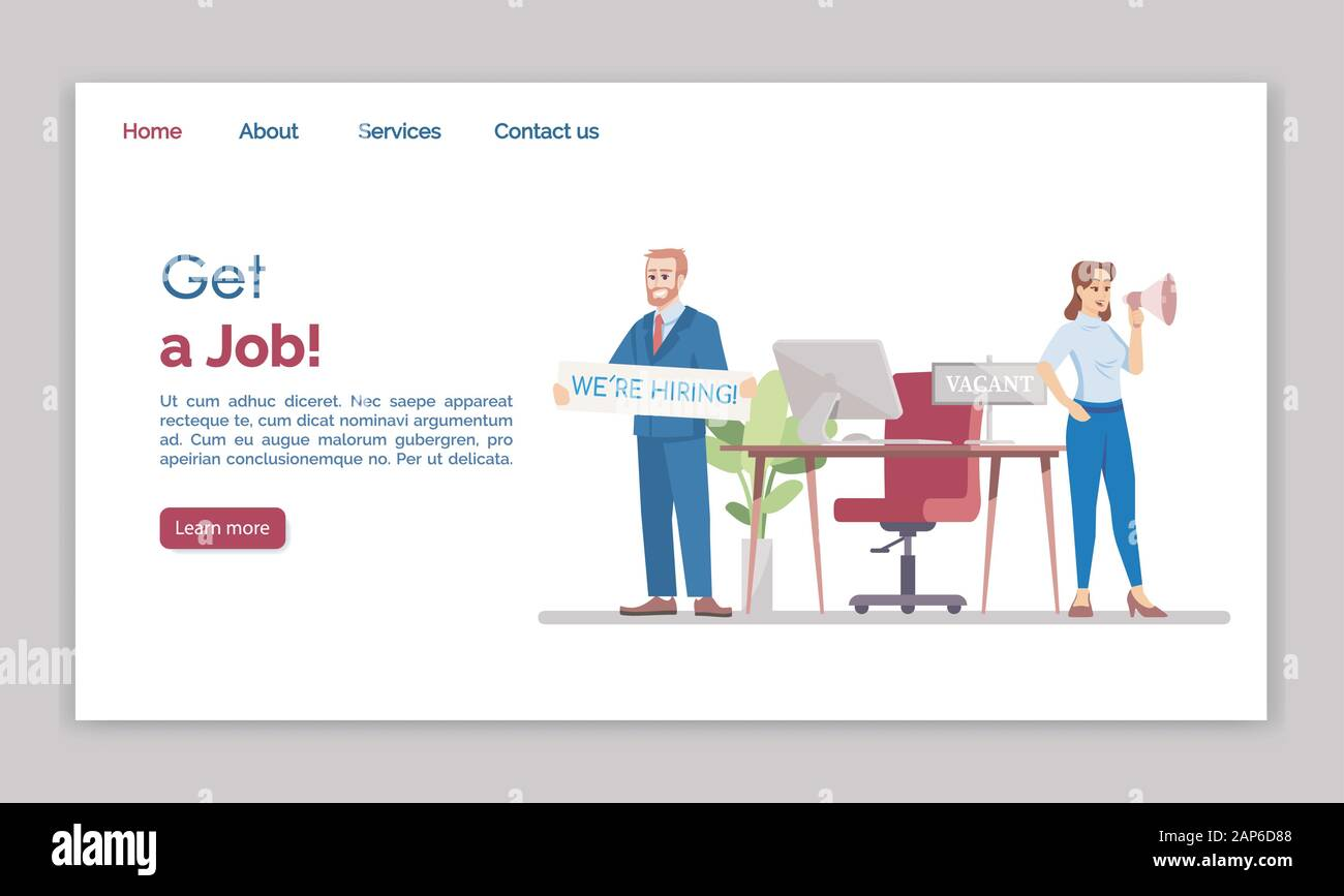 Step by step instructions to get your own professional hr consultant website up in 5 days. Get A Job Landing Page Vector Template Hr Agency Website Interface Idea With Flat Illustrations Employment Service Homepage Layout Vacant Post Web Stock Vector Image Art Alamy