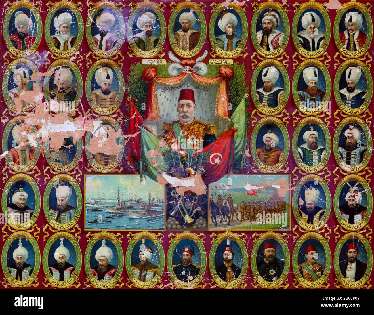 turkey germany poster showing sultans