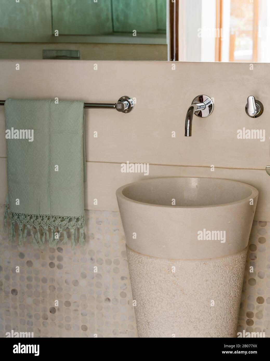 https www alamy com circular sink in bathroom image344367266 html