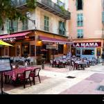 A Sidewalk Italian Cafe With Tables On The Patio In The Old Town Vieux Section Of Nice France On The French Riviera Stock Photo Alamy