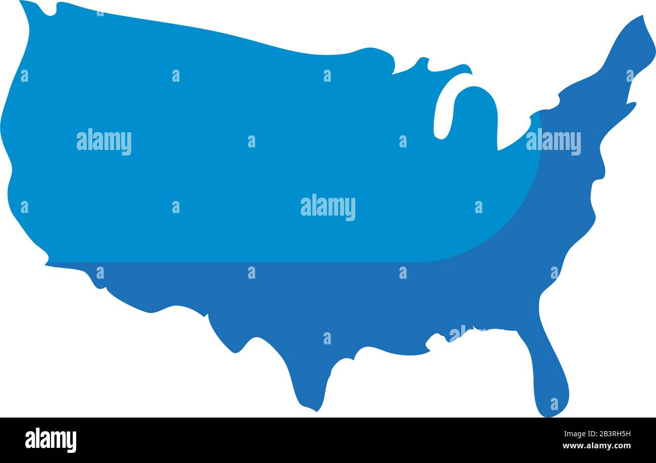 The states are listed in alphabetical order to the right with their abbreviations. Usa Map Fill Style Icon Design United States America Independence Day Nation Us Country And National Theme Vector Illustration Stock Vector Image Art Alamy