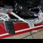 Close Up Of Foot Pedal And Brake Pedal Of Motorcycle Stock Photo Alamy