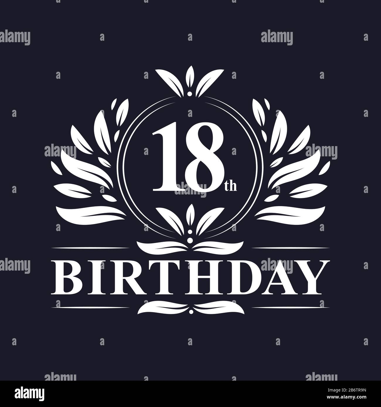 https www alamy com 18 years birthday logo luxury 18th birthday design celebration image348440449 html