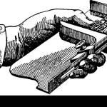 This Illustration Represents Composing Stick Which Used For Setting Up Letters In Printing Vintage Line Drawing Or Engraving Illustration Stock Vector Image Art Alamy