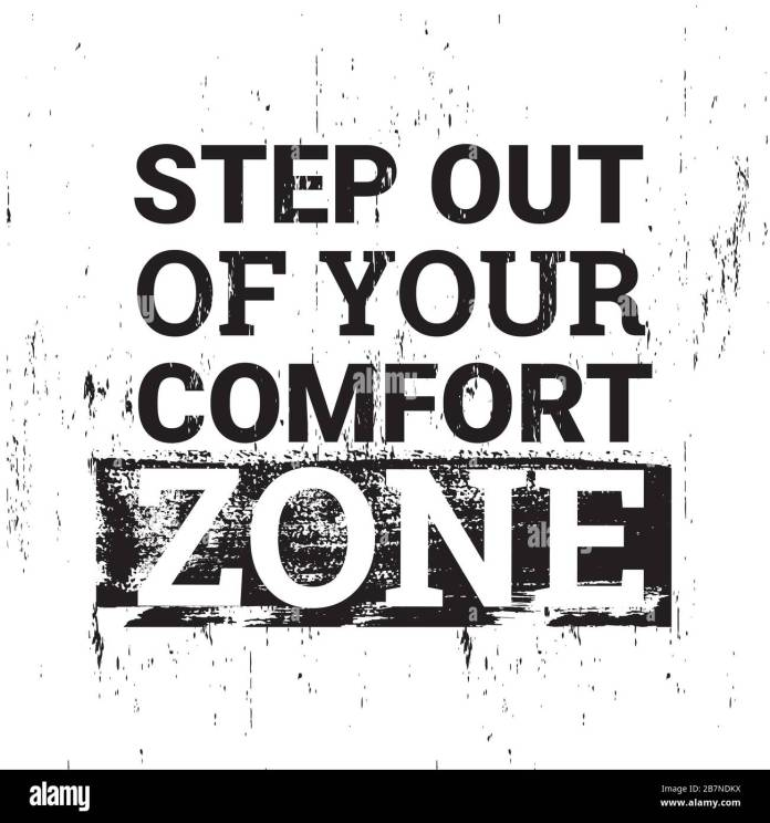 Step Out Of Your Comfort Zone Motivational Quotes Stock Vector Image Art Alamy