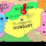 Hungary Budapest Capital City Pinned On Political Map Stock Photo Alamy