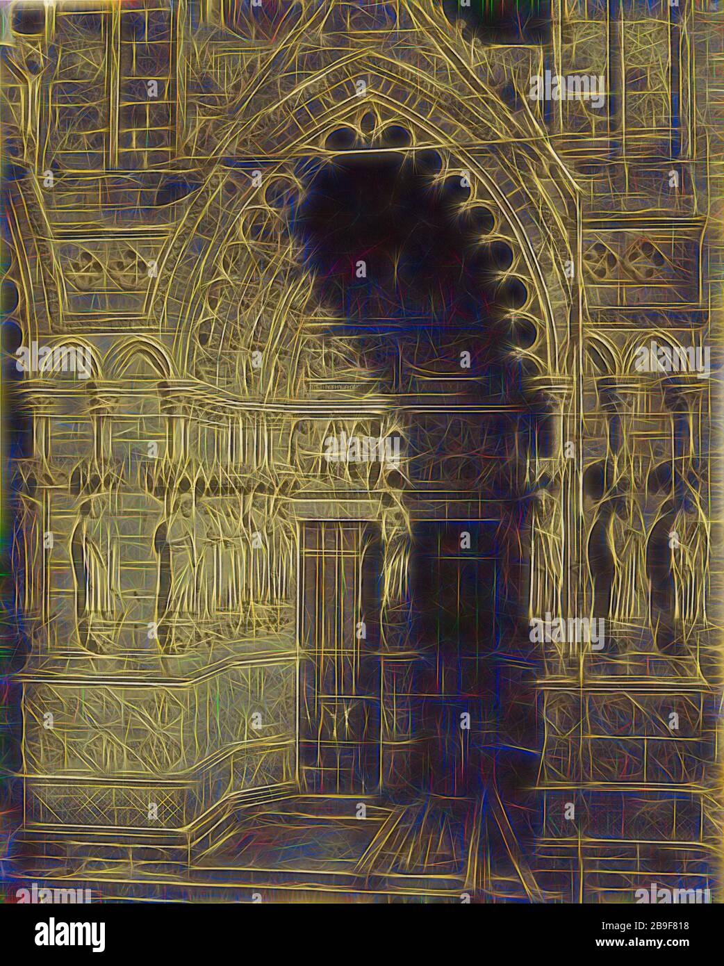 https www alamy com cathedrale damiens portail principal porte de la vierge bisson frres french active 1840 1864 amiens france 1850s albumen silver print from a glass negative 456 366 cm 17 1516 14 716 in reimagined by gibon design of warm cheerful glowing of brightness and light rays radiance classic art reinvented with a modern twist photography inspired by futurism embracing dynamic energy of modern technology movement speed and revolutionize culture image350074852 html