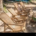 Bamboo Seating Chairs On White Beach Philippines Stock Photo Alamy