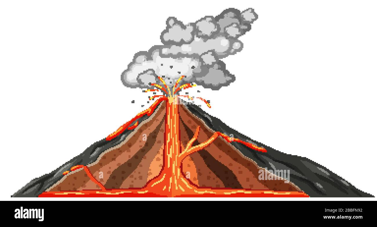 Volcano Diagram Stock Photos Amp Volcano Diagram Stock