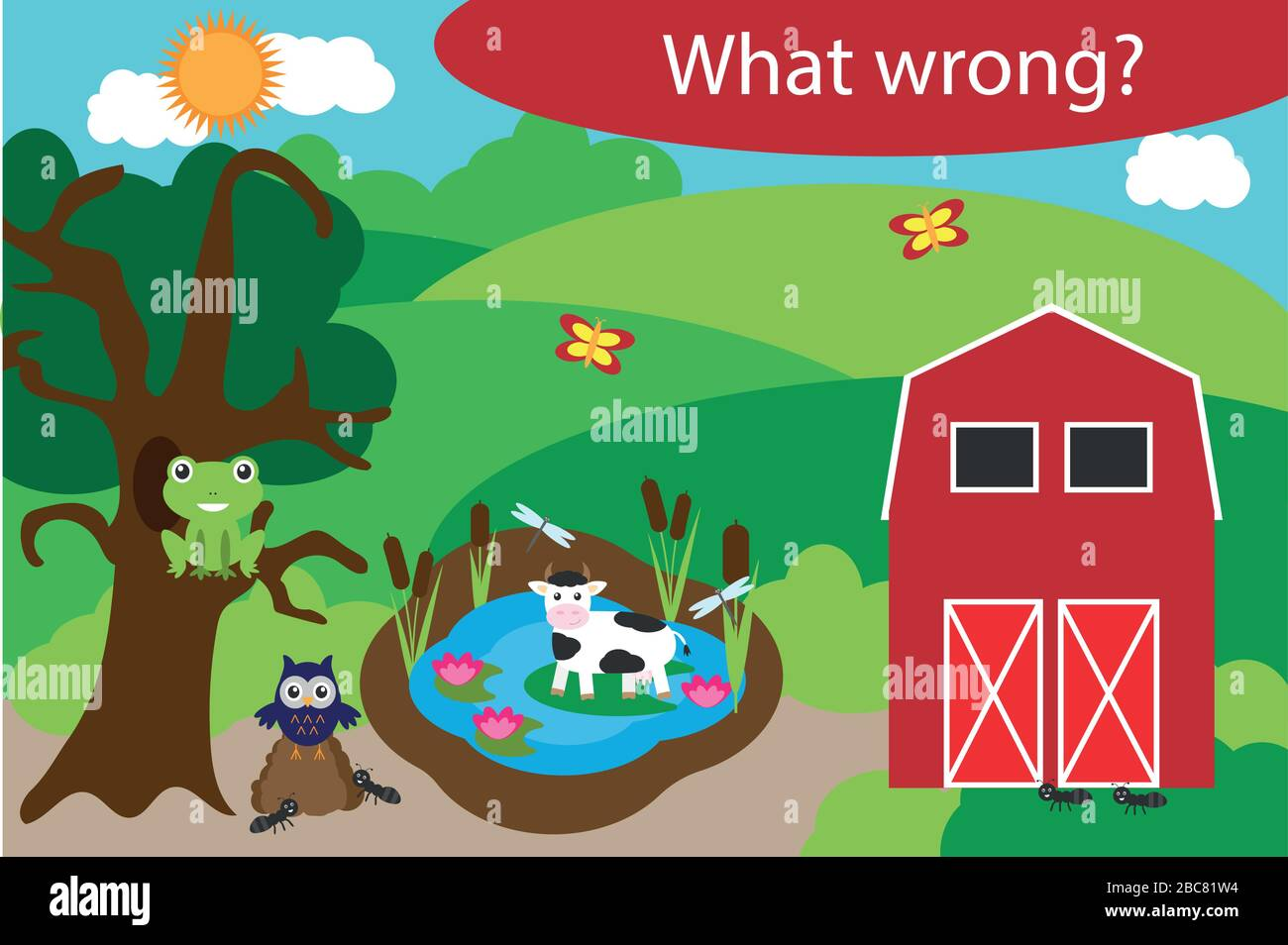 What Wrong Find Mistakes With Animals For Children Fun