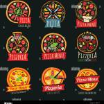 Pizza Color Labels Isolated Italian Restaurant Vector Badges And Emblems Illustration Of Pizzeria Italian Emblem Illustration Stock Vector Image Art Alamy