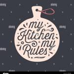 Kitchen Cutting Board Kitchen Wall Decor Sign Stock Vector Image Art Alamy