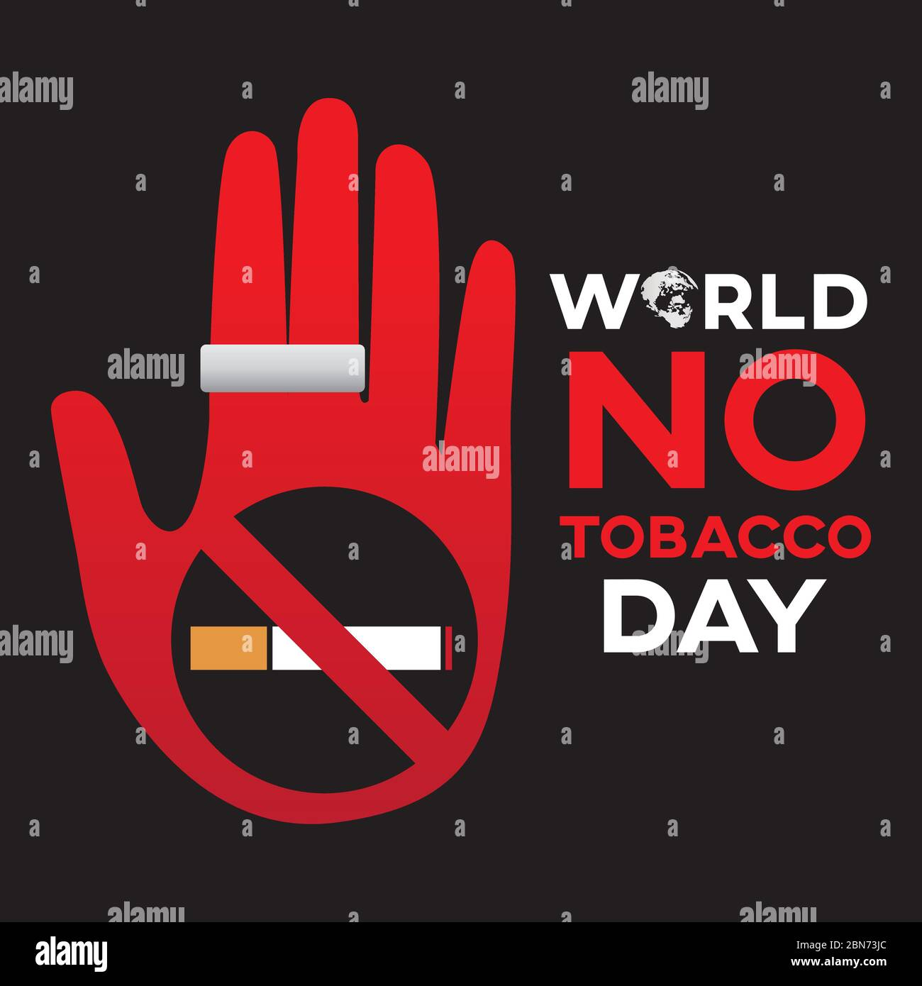 https www alamy com world no tobacco day text background greeting card or poster for campaign stop smoking image357271668 html