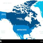 North America Map Green Hue Colored On Dark Background High Detailed Political Map North American Continent With Country Capital Ocean And Sea Names Labeling Stock Vector Image Art Alamy