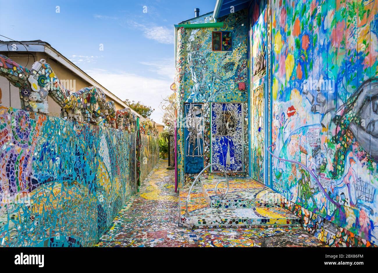 https www alamy com mosaic tile house in venice beach image360369176 html