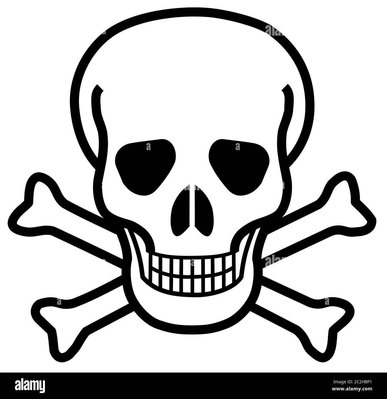Skull Cross Bones Tattoo High Resolution Stock Photography And Images Alamy