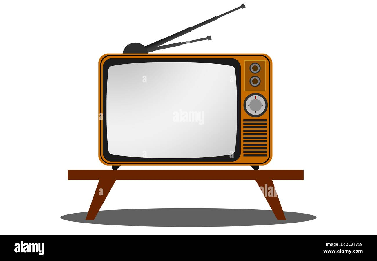 https www alamy com retro old vintage television on table 3d rendering image363794993 html