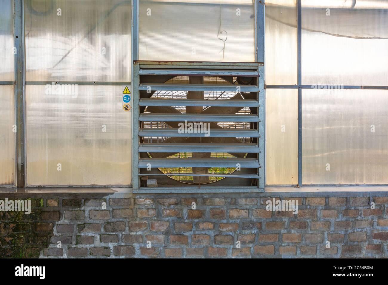 https www alamy com large exhaust fan ventilation fan in greenhouse image365202116 html