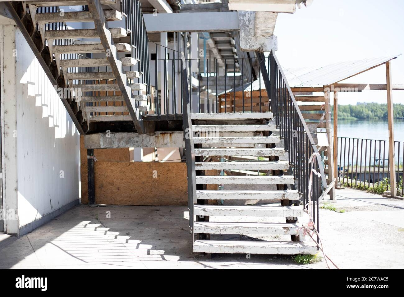 Exterior Stairs And Handrail High Resolution Stock Photography And   Outside Handrails For Stairs   Porch   Wrought Iron   Stainless Steel   Backyard   Wooden