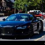 Audi R8 Black High Resolution Stock Photography And Images Alamy