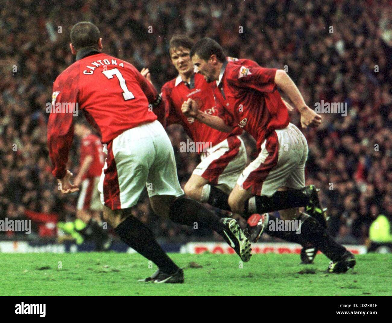 """""""eric cantona was a brilliant player. Eric Cantona And Roy Keane High Resolution Stock Photography And Images Alamy"""