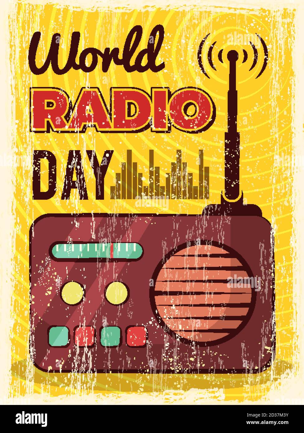 https www alamy com radio poster microphone broadcast studio mic and speakers vector placard design image380641519 html