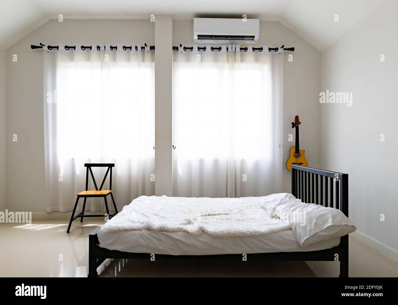 https www alamy com bedroom in soft light colors big comfortable double bed in elegant classic bedroom image388441163 html