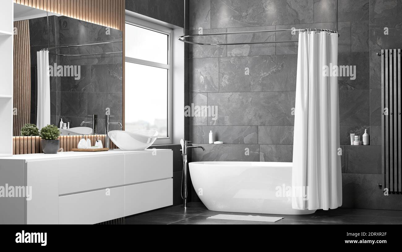 https www alamy com blank white opened shower curtain mockup half turned view 3d rendering empty polyester bathtub shutter for home design mock up clear waterproof cu image393354039 html