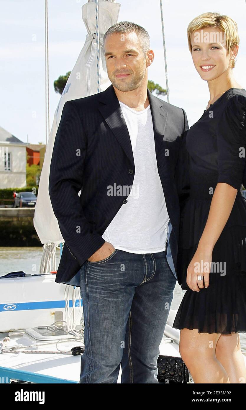 https www alamy com lorie pester poses with cast member and new boyfriend philippe bas during a photcall for the movie un mari de trop during the 12th festival of tv fiction in la rochelle france on september 10 2010 photo by patrick bernardabacapresscom image397764222 html