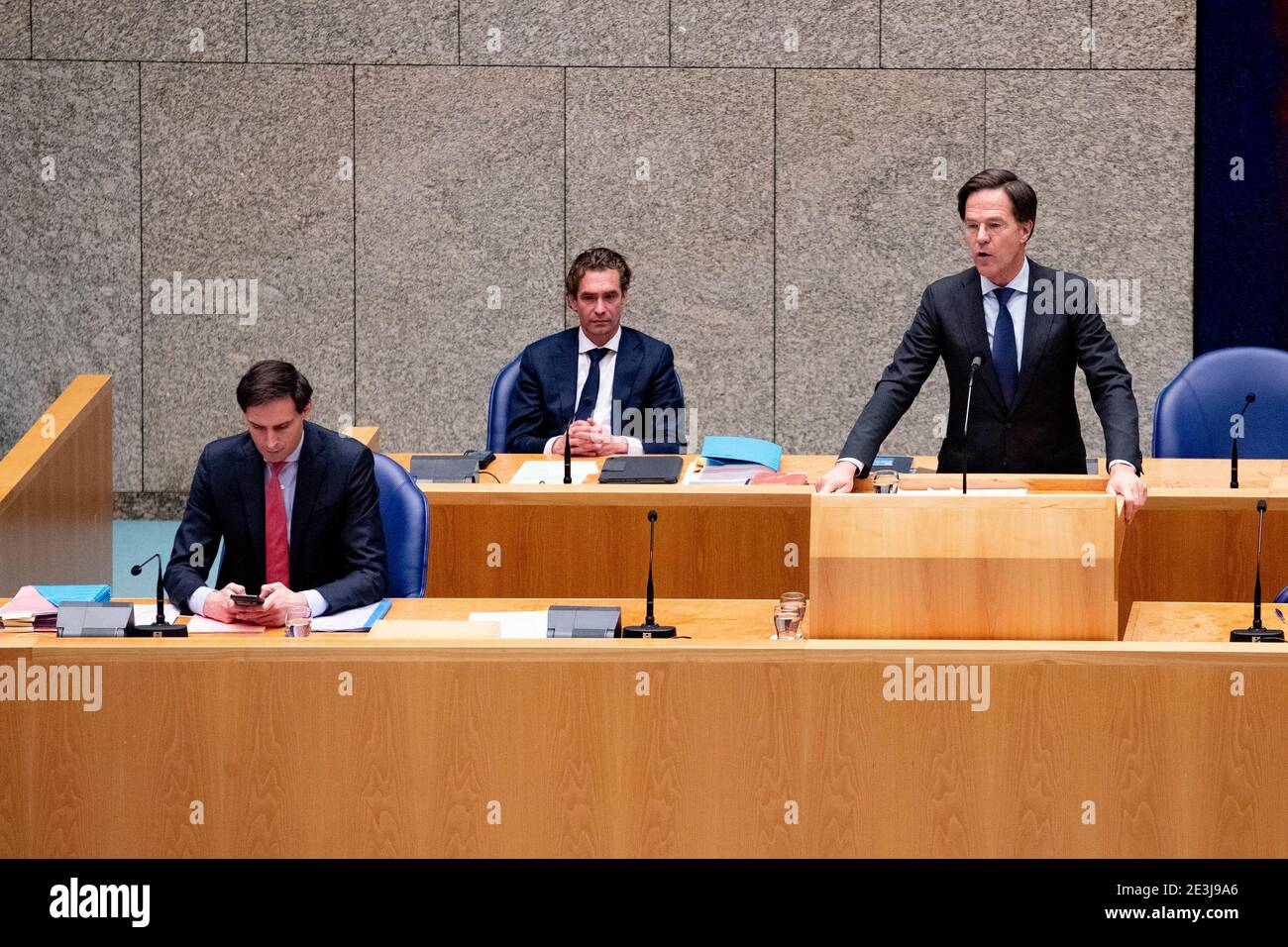 https www alamy com the hague netherlands january 19 prime minister mark rutte is seen during the debate about his declaration on the resignation of the dutch cabinet on january 19 2021 in the hague netherlands the rutte administration stepped down last friday as a result of the childcare allowance scandal in which many parents were wrongfully labelled as fraudulent by the national tax services photo by niels wenstedtbsr agencyalamy live news image398084910 html