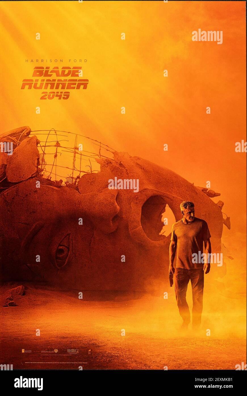 https www alamy com blade runner 2049 movie film poster 2017 image412273765 html