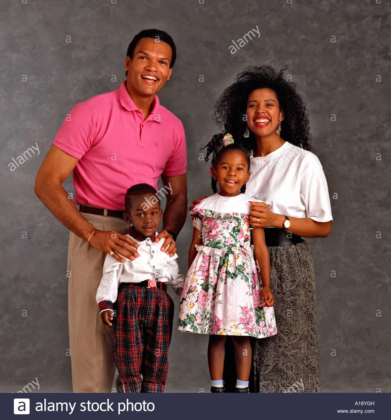 Black Nuclear Family Group Posing Stock Photos Amp Black