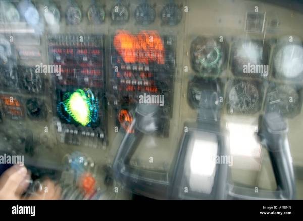 Cockpit view of a small plane in heavy turbulence Stock ...