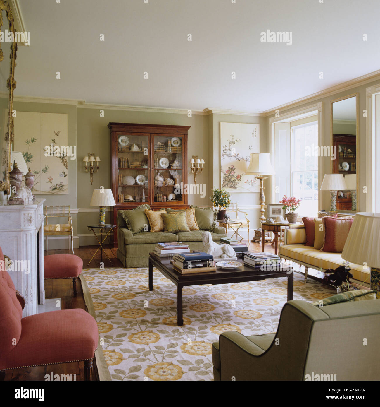 Living Room Of English Country House Dating From S
