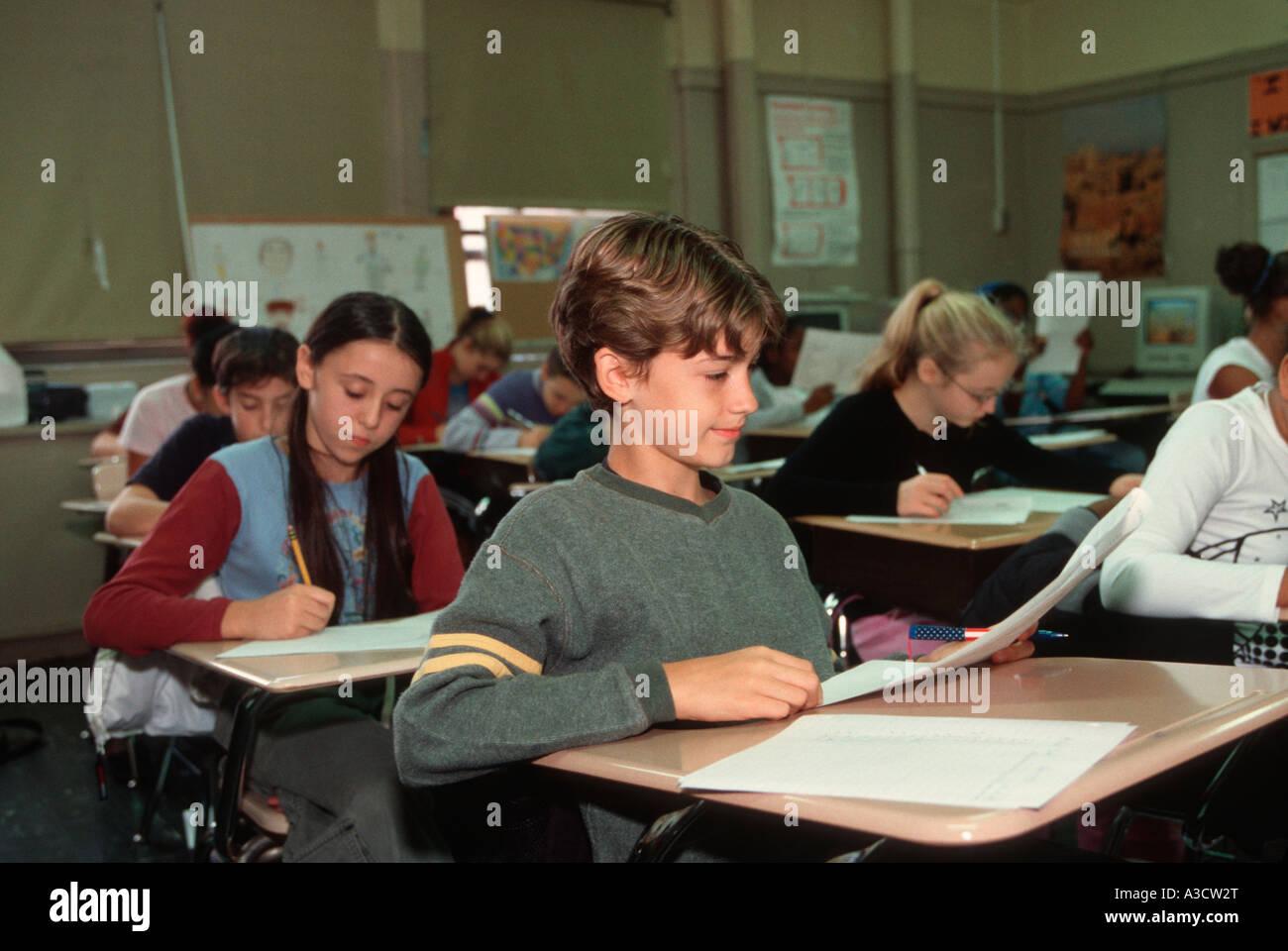 Junior High School Students Taking A Social Stu S Test