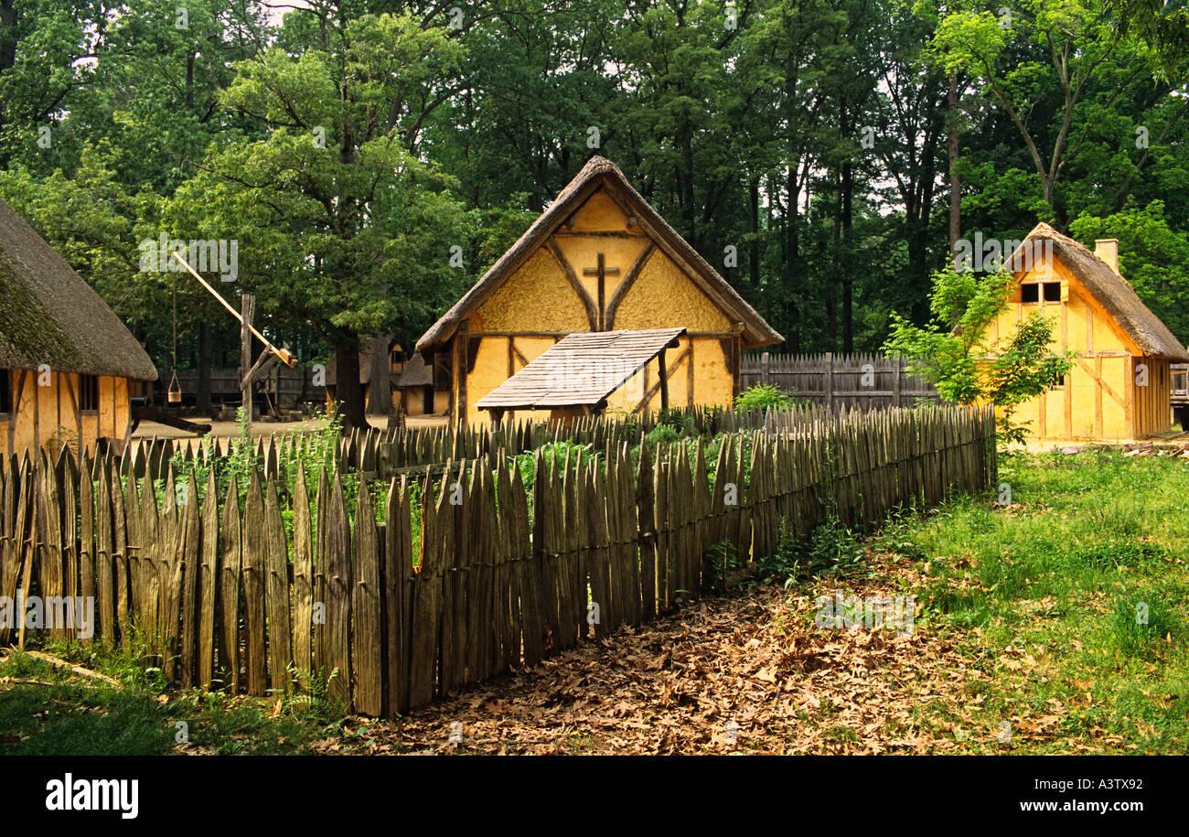 Virginia Jamestown Settlement Living History Museum James